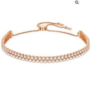 Swarovski Subtle Bracelet- Rose Gold Plated